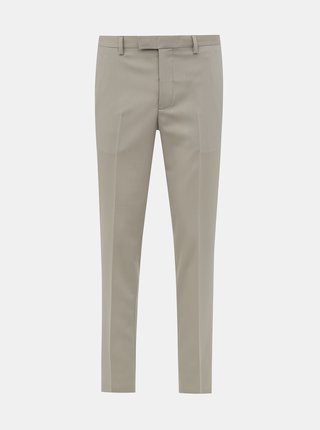 Béžové oblekové slim fit nohavice Jack & Jones VIncent