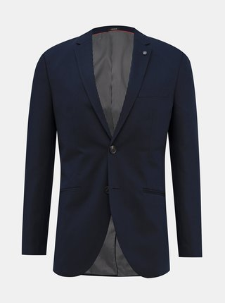 Tmavomodré oblekové slim fit sako Jack & Jones Vincent