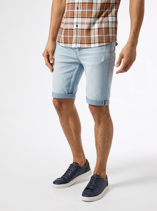 Světle modré džínové kraťasy Burton Menswear London