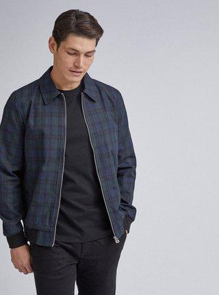 Tmavomodrá kockovaná ľahká bunda Burton Menswear London