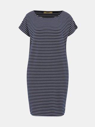 Tmavě modré pruhované basic šaty ZOOT Baseline Daniela