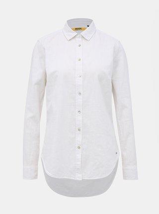 Biela dámska regular fit košeľa s prímesou ľanu  ZOOT Baseline Justina