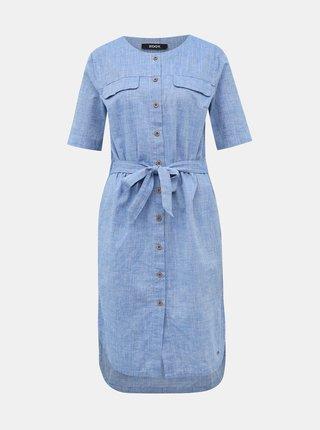 Světle modré šaty s příměsí lnu ZOOT Sabina