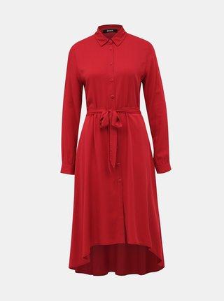 Červené košeľové šaty ZOOT Colly