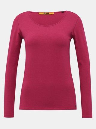 Tmavoružové dámske basic tričko ZOOT Baseline Molly