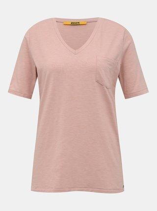 Rúžové dámske basic tričko ZOOT Baseline Bianca