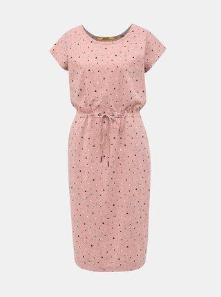 Světle růžové vzorované šaty ZOOT Baseline René