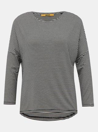 Bielo-čierne dámske pruhované basic tričko ZOOT Baseline Corina