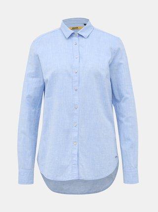 Světle modrá dámská regular fit košile s příměsí lnu ZOOT Baseline Justina