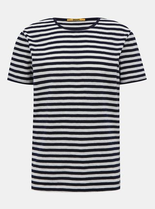 Modro-biele pánske pruhované basic tričko ZOOT Baseline Freddy