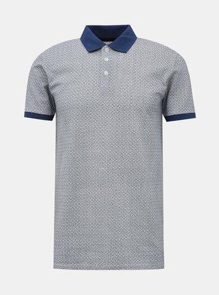 Modré vzorované polo tričko Lindbergh