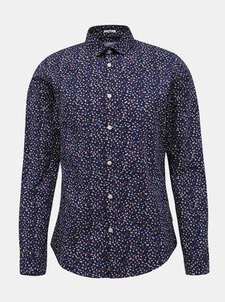 Růžovo-modrá květovaná košile Lindbergh