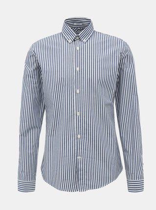 Bílo-modrá pruhovaná slim fit košile Lindbergh