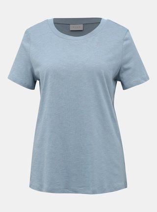 Světle modré basic tričko VILA Sumilta