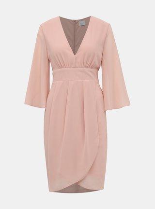 Svetloružové šaty VILA Micada
