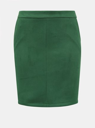 Zelená púzdrová sukňa v semišovej úprave VILA Faddy