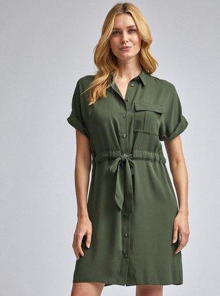 Zelené košeľové šaty Dorothy Perkins
