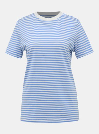 Svetlomodré pruhované basic tričko Selected Femme Perfect