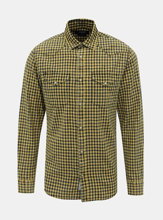 Žltá kockovaná slim fit košeľa Jack & Jones Weston