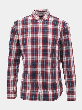 Červená kockovaná slim fit košeľa Jack & Jones Dylan