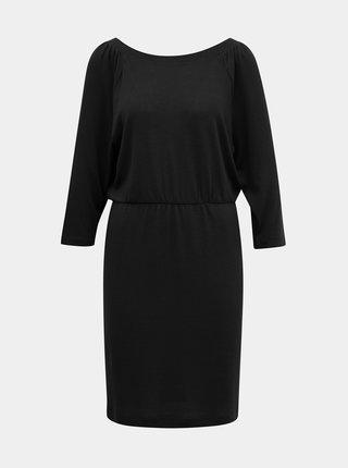 Čierne svetrové šaty Noisy May Halley