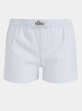 Bielo-modré dámske pruhované trenýrky El.Ka Underwear