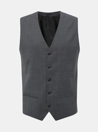 Šedá slim fit vesta s příměsí vlny Jack & Jones Solaris
