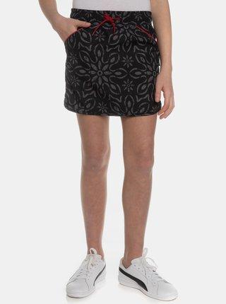 Čierna dievčenská vzorovaná sukňa SAM 73