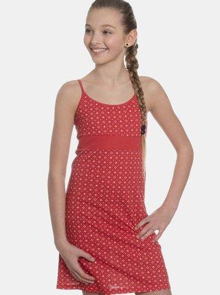 Červené dievčenské vzorované šaty SAM 73