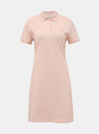 Světle růžové basic šaty Lacoste