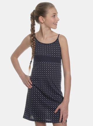 Tmavomodré dievčenské vzorované šaty SAM 73