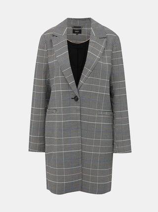 Šedý kostkovaný lehký kabát ONLY Selena