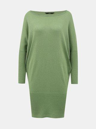 Zelené třpytivé svetrové šaty ONLY Skylar