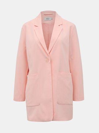 Světle růžové sako ONLY