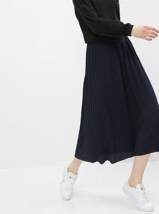 Tmavě modrá plisovaná midi sukně Jacqueline de Yong Paris