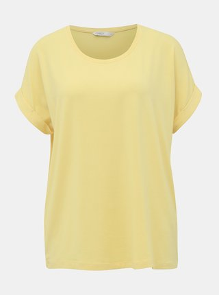 Tricouri basic pentru femei ONLY - galben