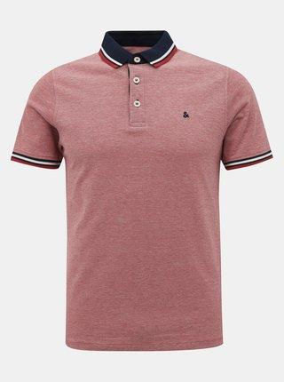 Růžové polo tričko Jack & Jones Paulos