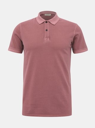 Růžové basic polo tričko Selected Homme Soho