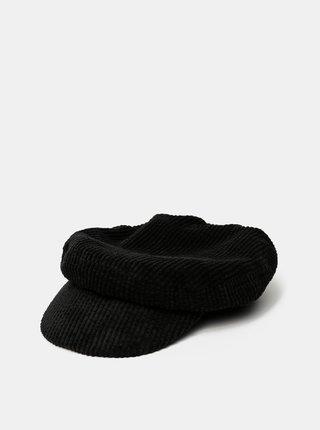 Čierna menčestrová kapitánska čiapka Vero Moda Yasemin