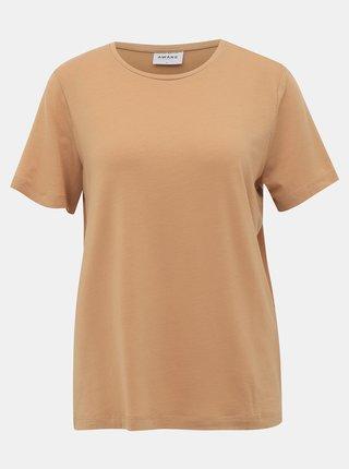 Světle hnědé basic tričko AWARE by VERO MODA Ava