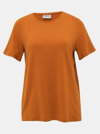 Hnědé basic tričko AWARE by VERO MODA Ava