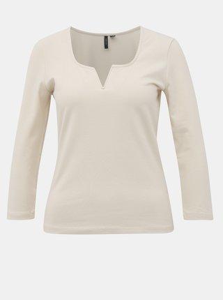 Krémové tričko Vero Moda Nelly