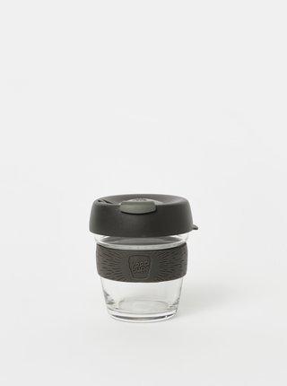 Šedý sklenený cestovný hrnček KeepCup Brew small 177 ml