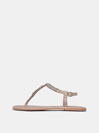 Starorůžové kožené sandály Dorothy Perkins