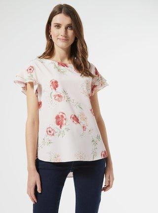Svetloružová kvetovaná blúzka Dorothy Perkins