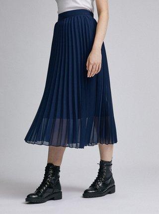 Tmavě modrá plisovaná sukně Dorothy Perkins