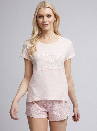Svetloružové pyžamo Dorothy Perkins