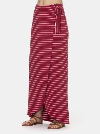 Červená pruhovaná maxi sukně Ragwear Adelka