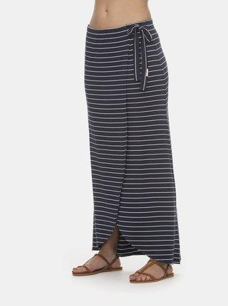 Tmavě modrá pruhovaná maxi sukně Ragwear Adelka
