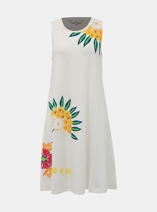 Biele kvetované šaty Desigual Love